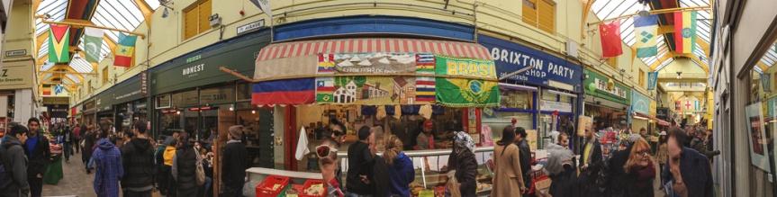Brixton Market panorama