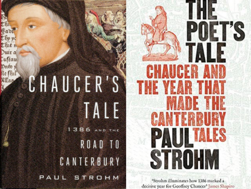 Cover of Strohm Chaucer's Tale (Viking, 2014), reissued as The Poet's Tale (Profile, 2015)