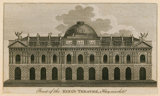 Front of the King's Theatre, Haymarket, London